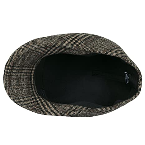 eaffb0d3 Howels Glen Plaid Wool Vintage Irish Newsboy Cap Duckbill Flat Hunting Hat,  Beige/Black: Amazon.ca: Clothing & Accessories