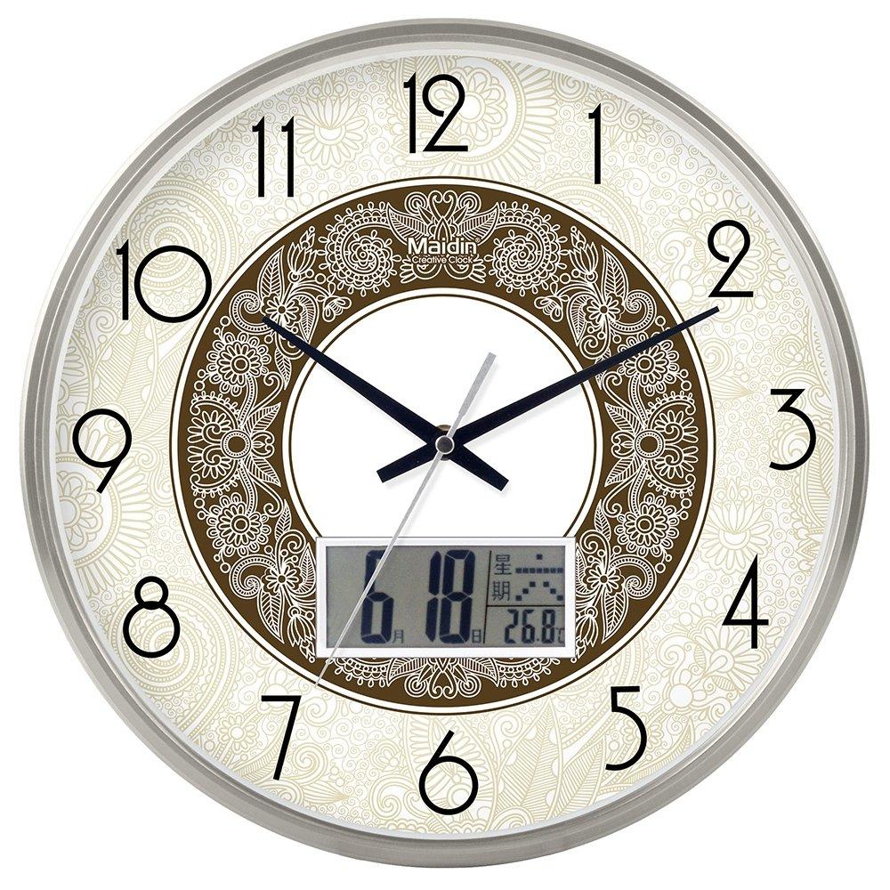 RBB ミニマリストカレンダー、リビングルームオフィスクロック、カスタマイズされた創造的なミュート、大気の時計、時計、カレンダー、ホーム,8インチ,金のlcバージョン418 B07DL4ZSWD 8インチ|金のlcバージョン418 金のlcバージョン418 8インチ