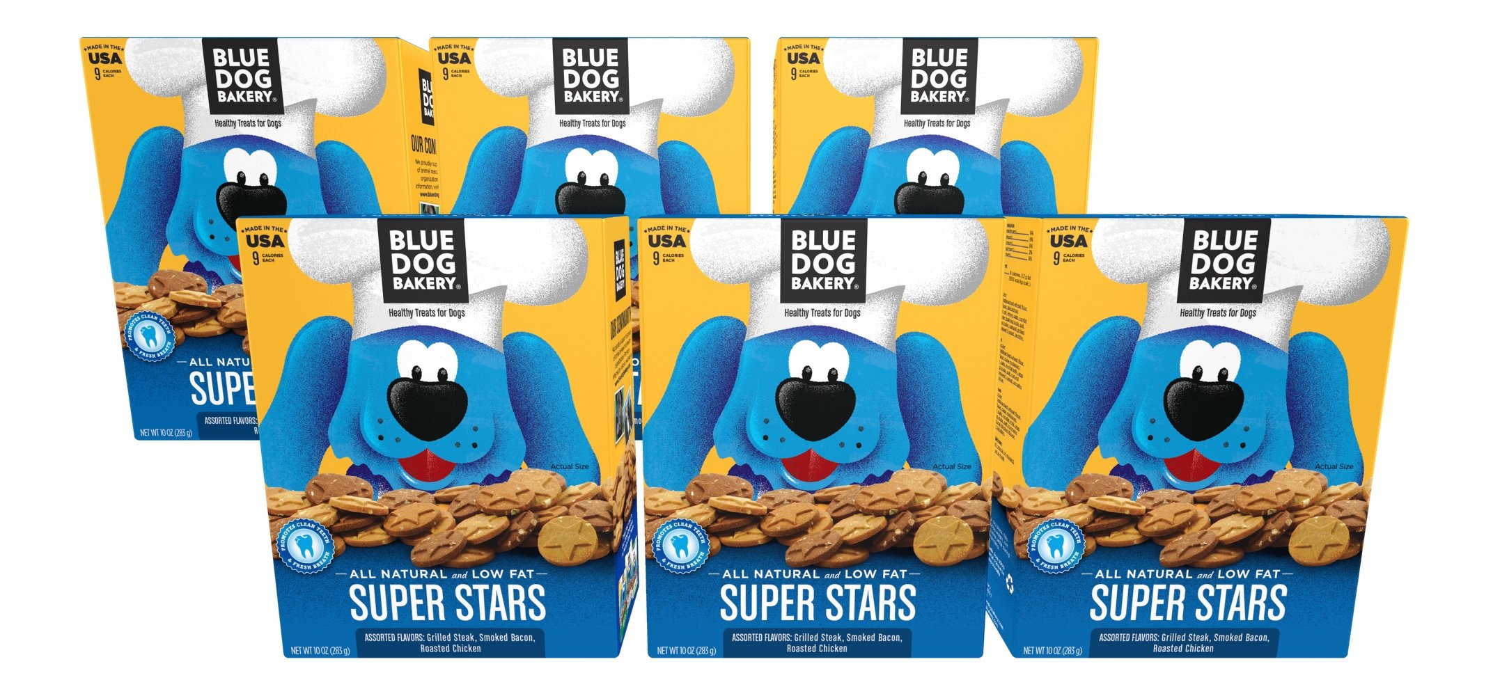 Blue Dog Bakery Dog Treats | All-Natural | Low-Fat | Assorted Flavors | 10oz (Pack of 6)