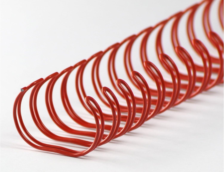 Drahtbinderücken 34 Ringe 4,9mm 3:1 Teilung silver 3//16 Zoll