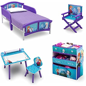 Amazon.com: NEW! Disney Frozen 5 Set Room-in-a-Box Toddler Bed ...
