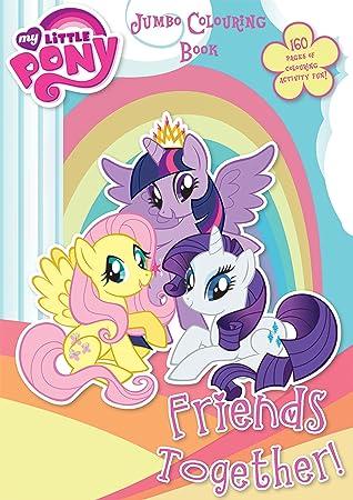 Libro De Colorear My Little Pony Con 160 Páginas Para Niños