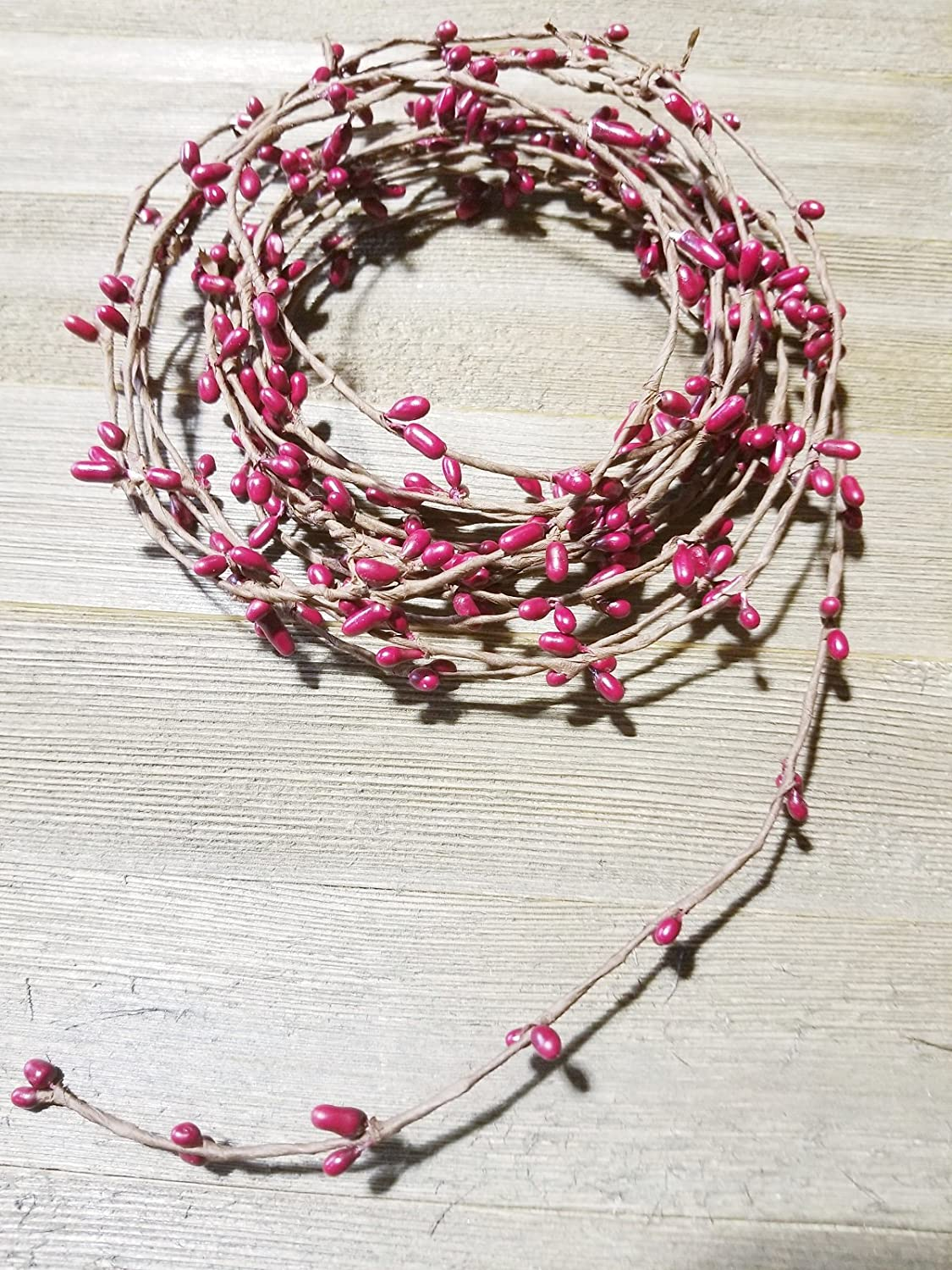 3 Strands of 6 Garland that Can Be Utilized Separately or Twisted together to Equal 18 Feet Of String Garland Red Pip Berry Single Ply Garland 18 Country Primitive Floral Craft Decor