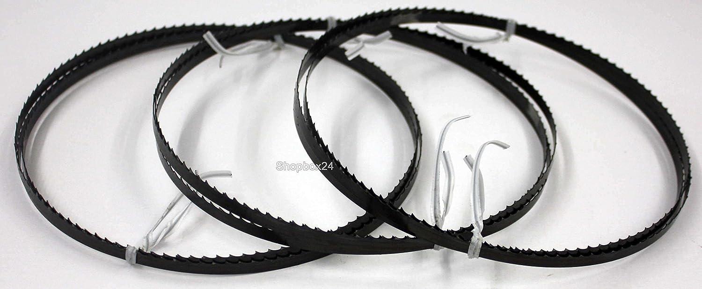 3 x Premium Sä geband Bandsä geband Bandsä geblatt Sä gebä nder 1505 mm x 6 mm x 0,36 mm x 6 Zä hne pro Zoll , fü r Holz , Hartholz , Brennholz , Sperrholz , Quer- und Schweifschnitte, geeignet fü r Maschinen wie : E
