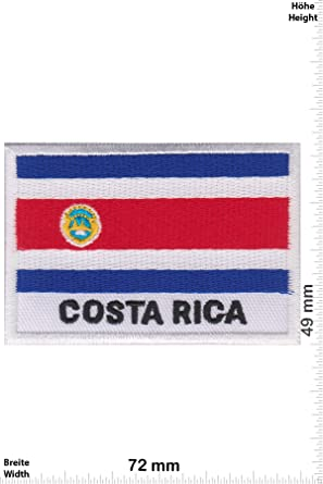Parches - Costa Rica - Flag - Flag Patch - countries - Vest - Iron on