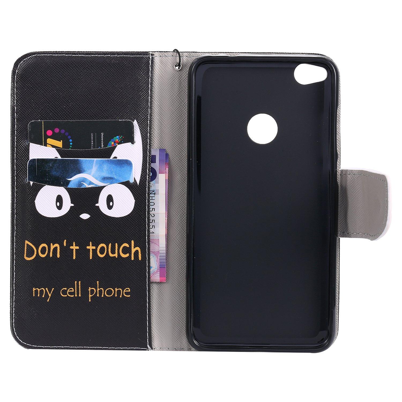 Schutzh/ülle Brieftasche mit Kartenfach Klappbar Magnetverschluss Sto/ßfest Kratzfest Handyh/ülle Case f/ür Huawei P8Lite - KATU26128#3 2017 Lomogo Huawei P8 Lite 2017 H/ülle Leder