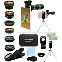 Cell Phone Camera Lens Kit,11 in 1 Universal 20x Telephoto Lens,0.63Wide Angle+15X Macro+198°Fisheye+2X Telephoto…