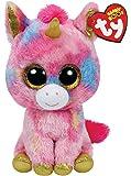 TY 809762T - Beanie Boo's Fantasia XL, peluche unicornio, 40 cm (United Labels Comicwa 36819TY) - Peluche Beanie Boos Unicornio Fantasía, Juguete Peluche Primera Infancia