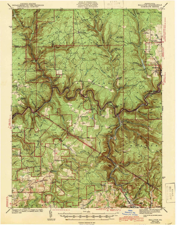Amazon Com Yellowmaps Hallton Pa Topo Map 1 62500 Scale 15 X 15