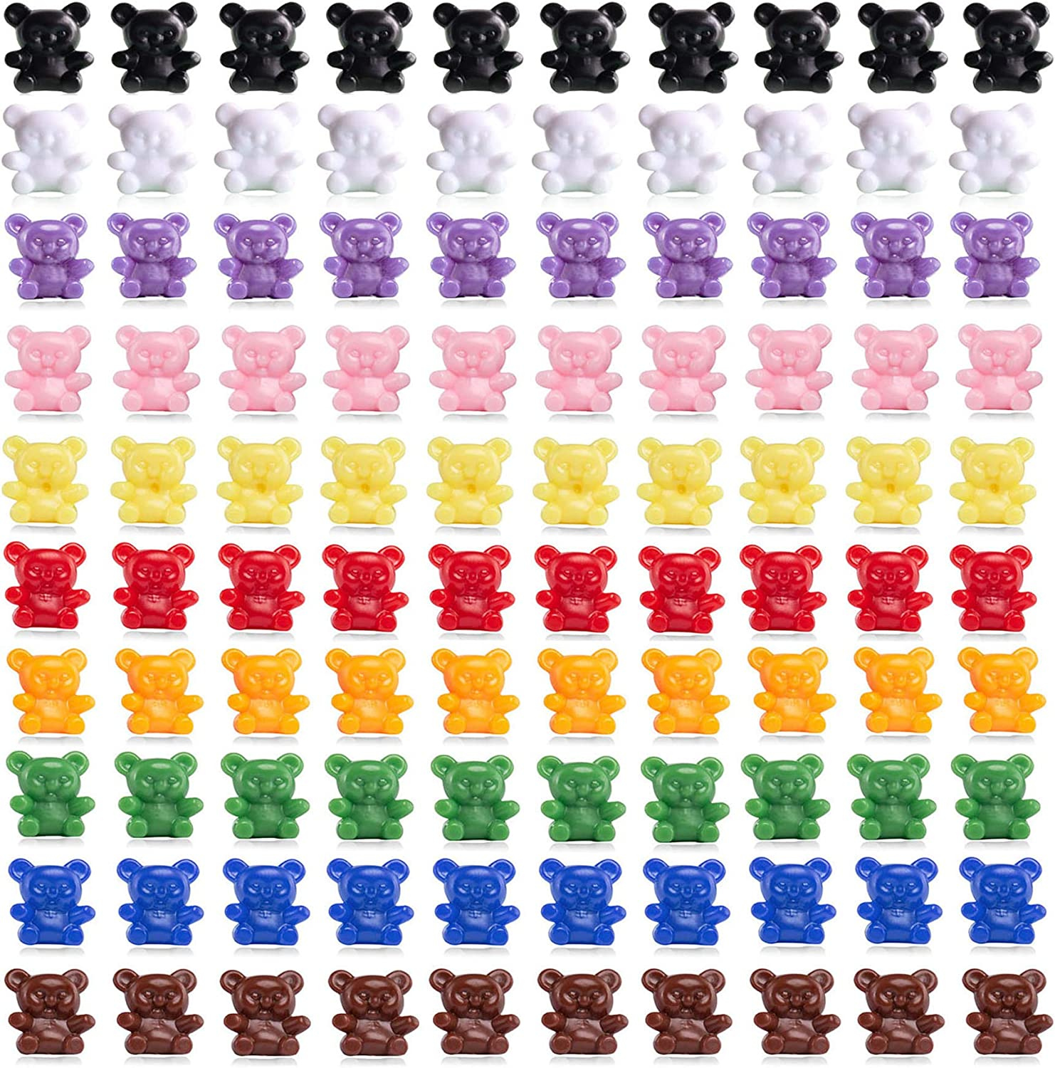 Counting Sorting Bears Toddler Game for Preschool Activities Learning Number Color Recognition Educational Toys Fine Motor Tool for Children and Kids (180 Pcs)