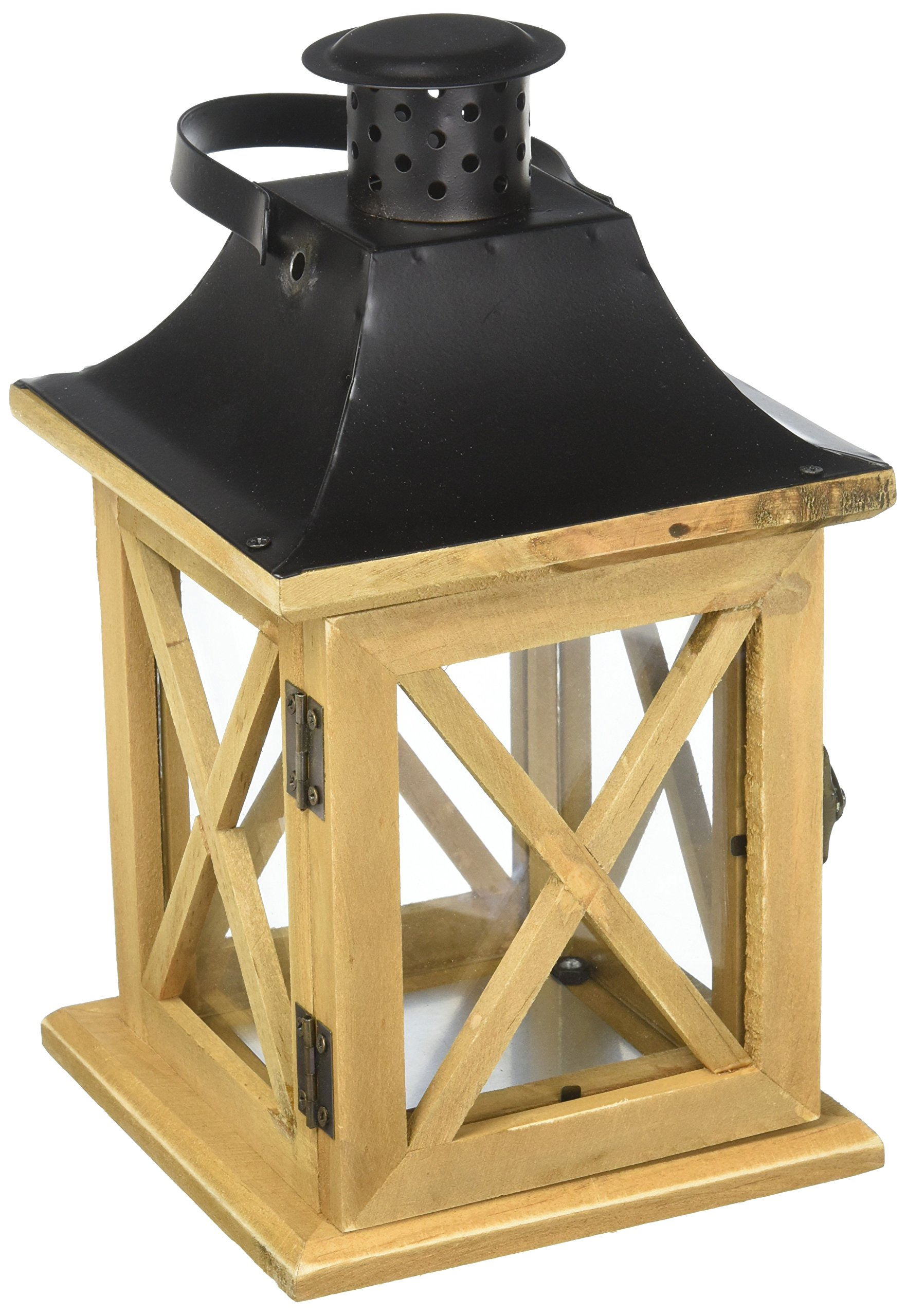 Darice YT7991 Lantern Wood Brown 5.3X5.3X9.7In
