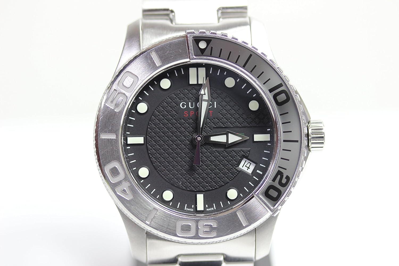【MT1137】【中古】GUCCI グッチ 126.2 Gタイムレス メンズ クォーツ 腕時計 SS 45ミリ 黒文字盤 クオーツ/シルバー/ステンレススチール(SS)/(YA126251) 【質屋出店】並行輸入品】 B07CK8FC84