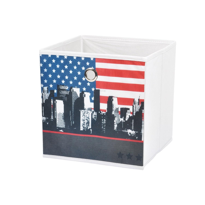 Douceur dInt/érieur 6GMB259 West Side Panier de Rangement Polyester Gris 26 x 26 x 26 cm