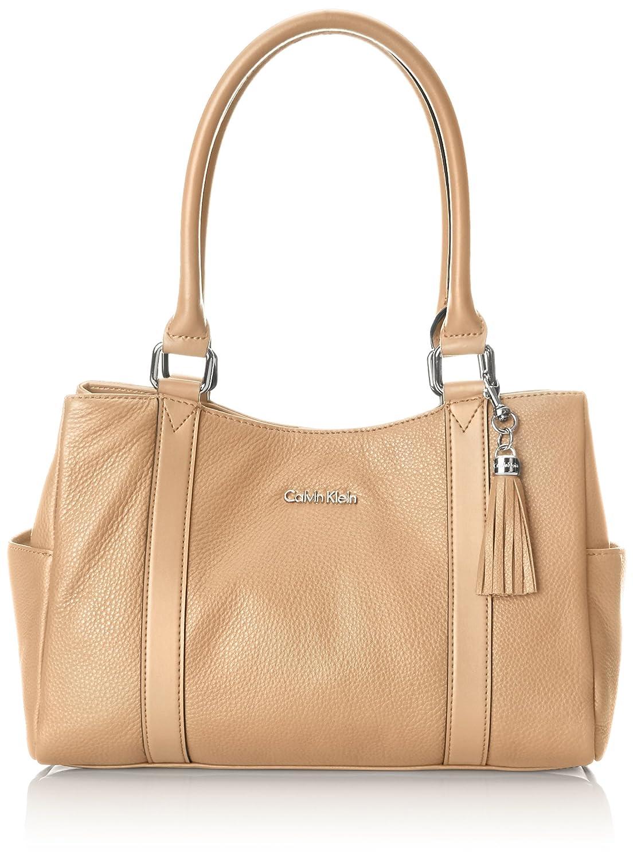 Calvin Klein Pebble Leather E/W Shopper Satchel Bag