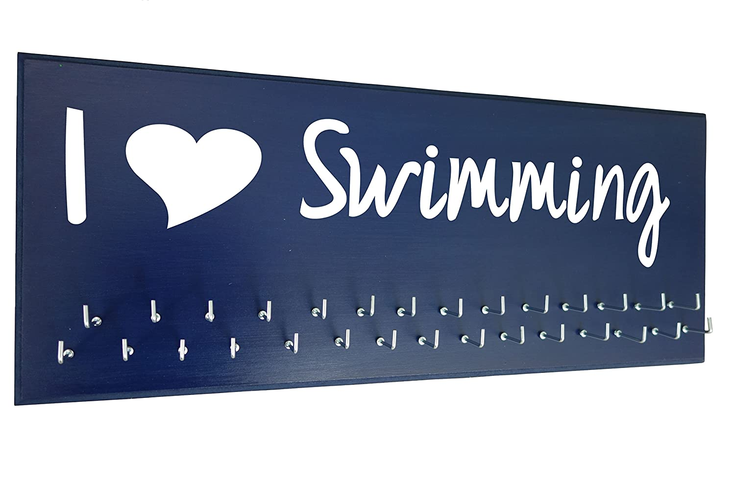 """I LOVE SWIMMING"" Swimmer Gifts, Swimming Award Display"