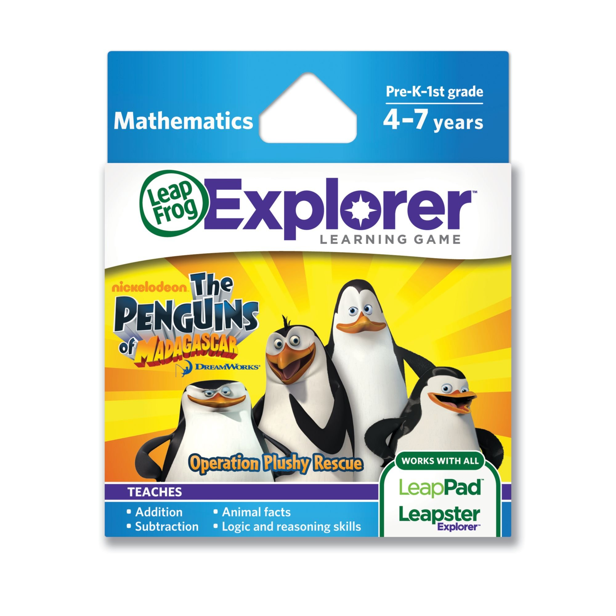 LeapFrogThe Penguins of Madagascar: Operation Plushy Rescue Learning Game (works with LeapPad Tablets and LeapsterGS) by LeapFrog (Image #1)