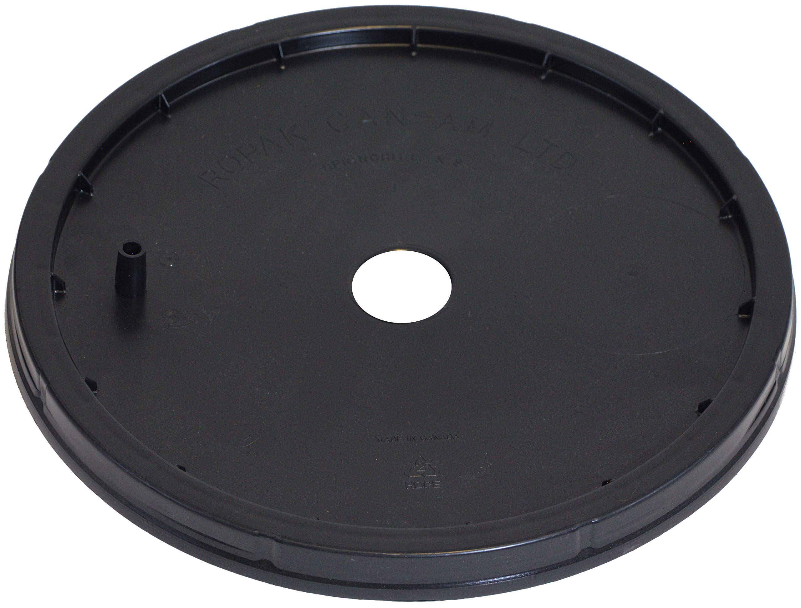 30L Ropak Lid with #10 Stopper-Sized Hole