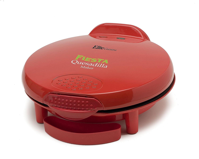 """Elite Cuisine EQD-118 Maxi-Matic 11"""" Non-Stick Quesadilla Maker, Red"""