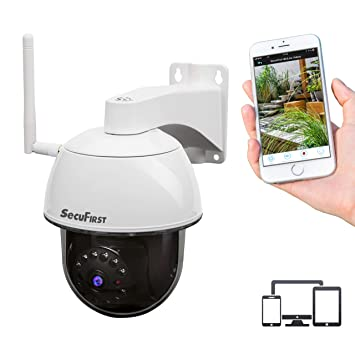 5MP HD Wireless IP Kamera PTZ Überwachungskameras 2-Way Audio Nachtsicht IP66