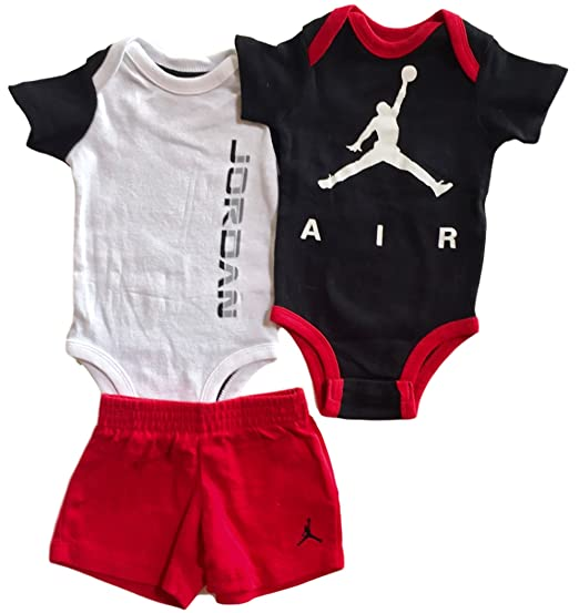 Nike Jordan Baby Boys' 3-Piece Bodysuit, T-Shirt & Shorts Set