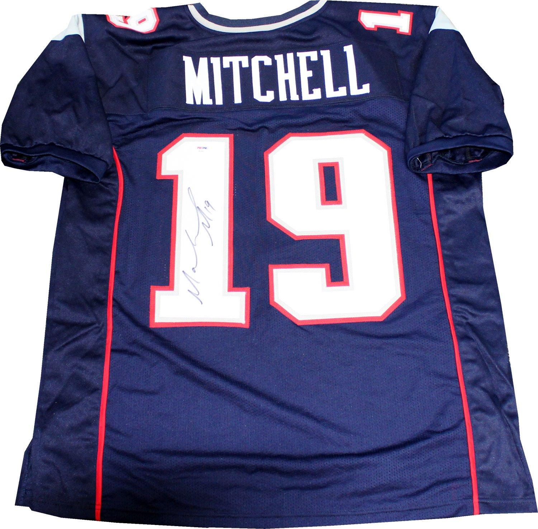 online retailer 04603 36c85 Malcolm Mitchell Autographed New England Patriots Custom ...