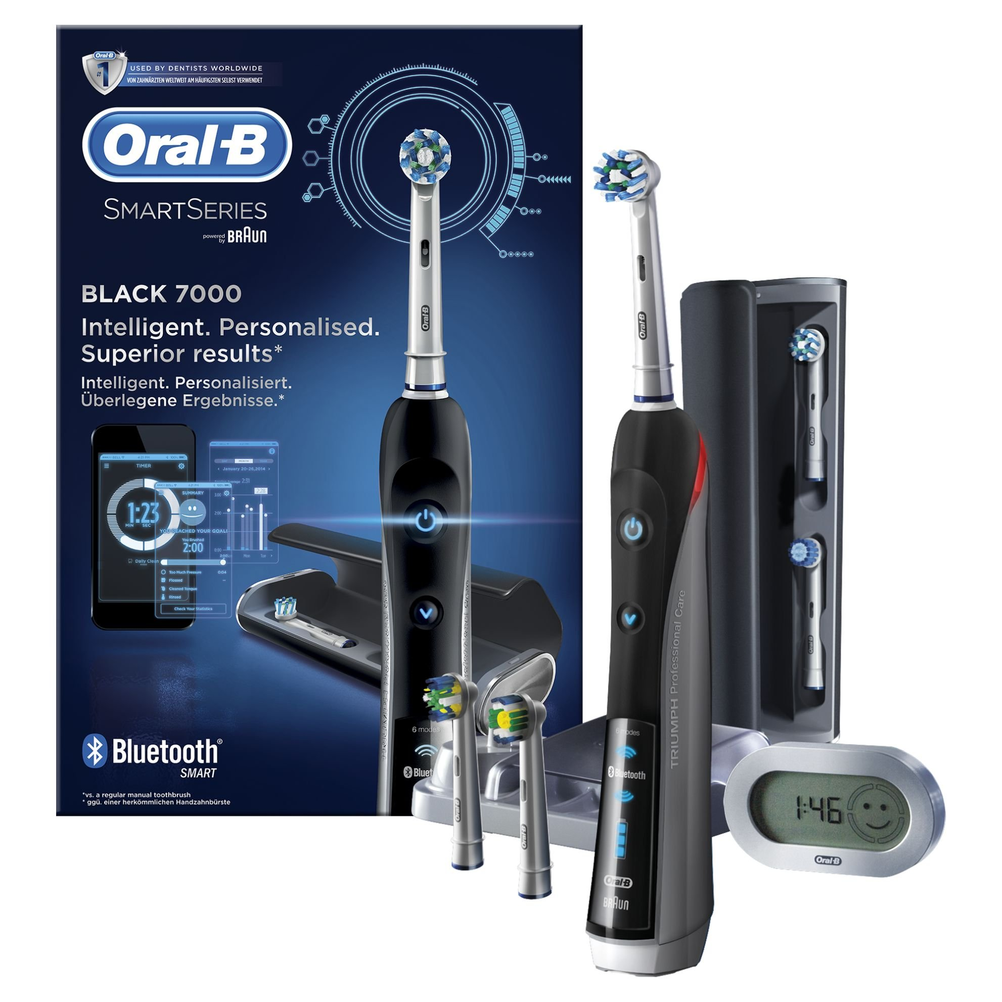 Oral-B PRO 7000 CrossAction Smart Series Cepillo de Dientes Eléctrico Recargable con Conectividad Bluetooth