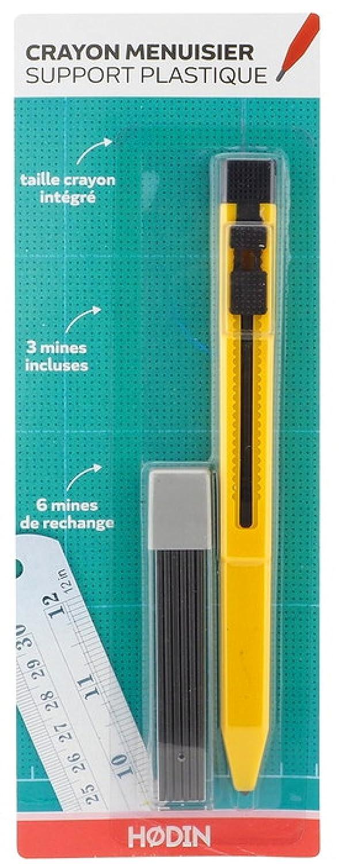Crayon menuisier charpentier porte-mine Crité rium 9 Mines HODIN