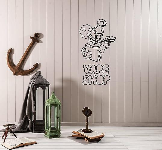 Amazon com: Wall Decal Hookah Smoke Vape Shop Vapor Vinyl Sticker