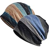 Jemis Womens Cotton Chemo Hat Beanie Scarf - Beanie Cap Bandana for Cancer