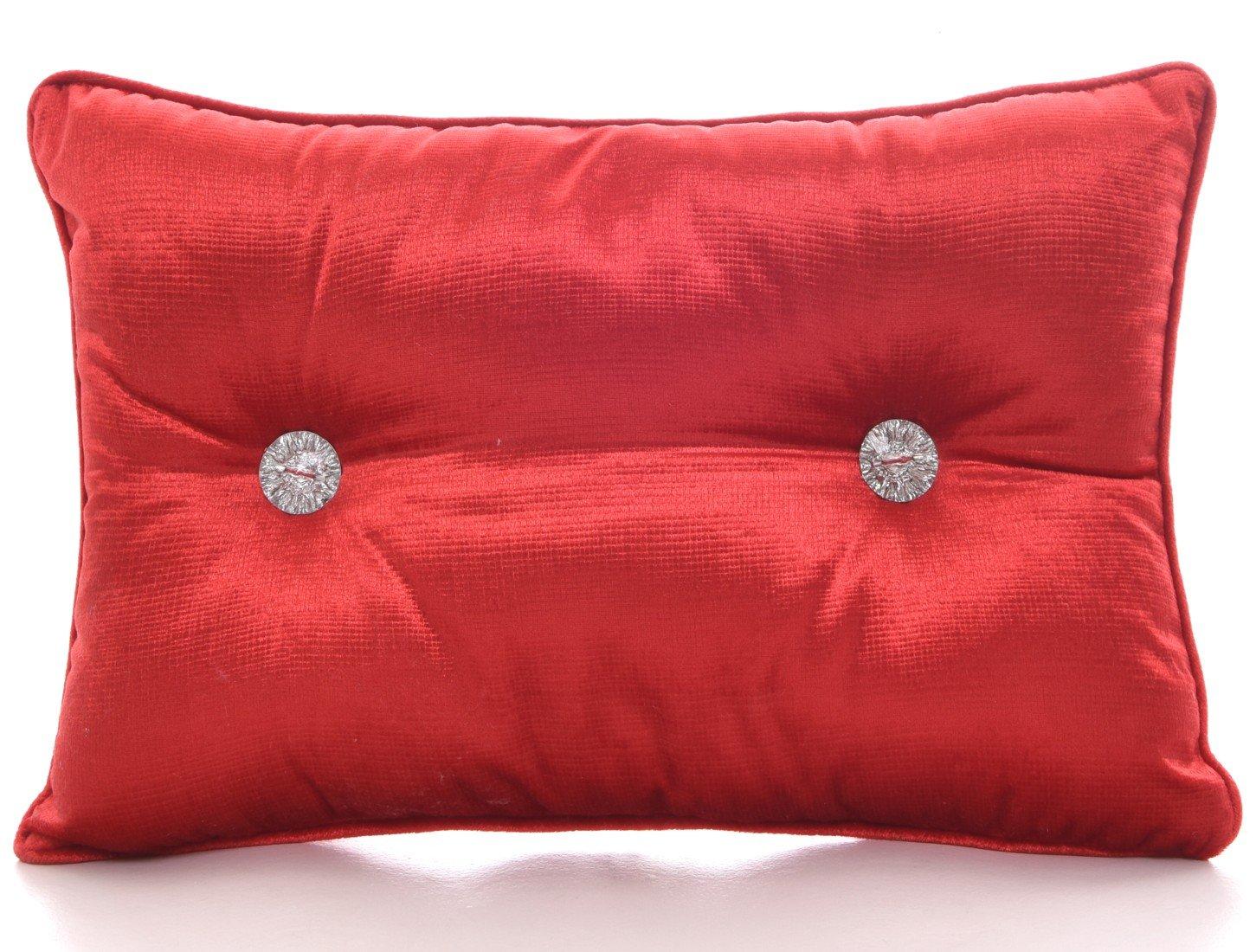 Chenille Boudoir Rectangular Diamante Filled Scatter Cushions Machine Washable