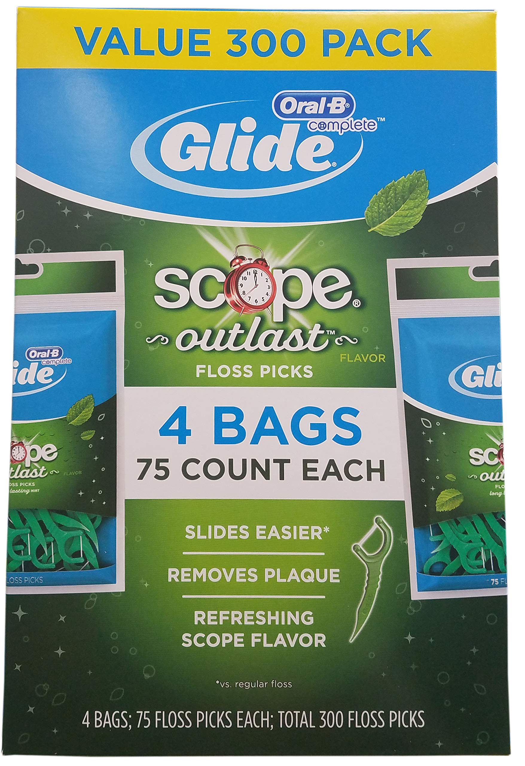 Oral B Complete Glide Floss Pick (300 Count), 300 Count