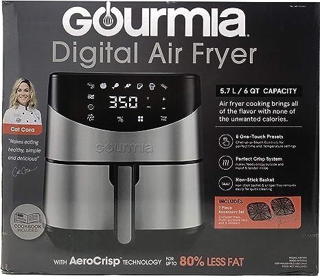 Gourmia 6-Qt. Freidora de aire digital de acero inoxidable.: Amazon.com.mx: Hogar y Cocina