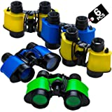 Kids Toy Binoculars (6 Pack) In Assorted Vivid Colors, With Neck String, Small Prizes, Perfect Party Favor For Boys…