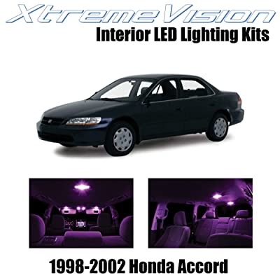 Xtremevision Interior LED for Honda Accord 1998-2002 (12 Pieces) Pink Interior LED Kit + Installation Tool: Automotive