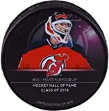 Martin Brodeur New Jersey Devils Unsigned 2018 Hall of Fame Custom Hockey Puck - Limited Edition of 2018