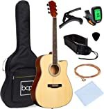Best Choice Products 41in Full Size Beginner All Wood Acoustic Guitar