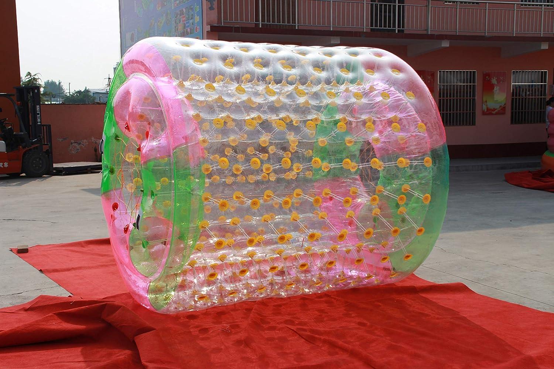 Water Roller rulo acuático a PVC 1,0 mm Grosor acuático Hinchable Inflable Grande 2.4m x 2.2m x 1.6m. PVC. (Verde, Rosa y Transparente): Amazon.es: Deportes y aire libre