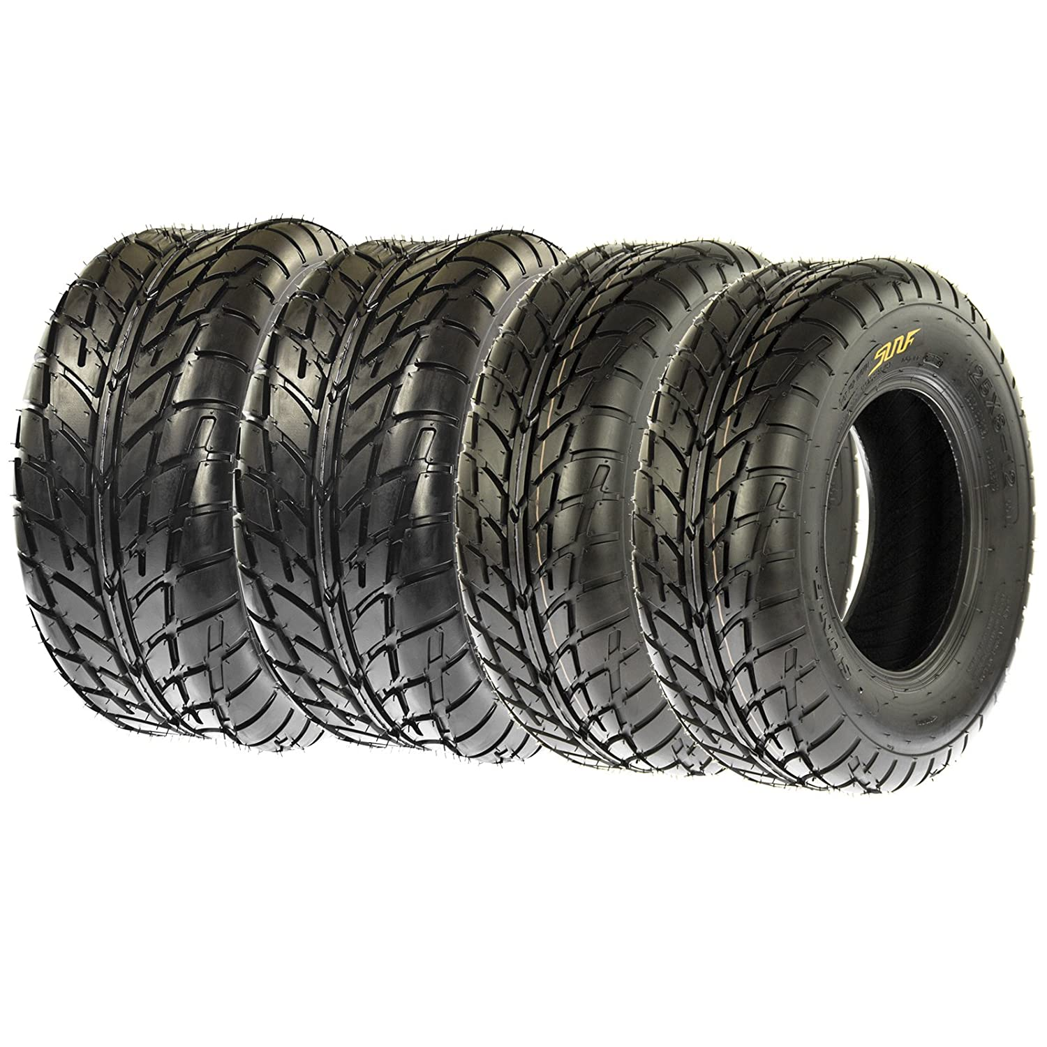 SunF Sport Race Replacement ALL TERRAIN ATV UTV 6 Ply Tires 21x7-10 & 20x10-9 Tubeless A021, [Set of 4] LCF1|A021|210710|201009|x4