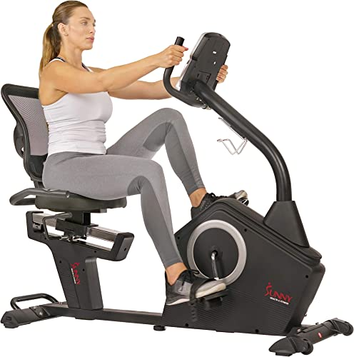 Sunny Health Fitness Magnetic Recumbent Exercise Bike
