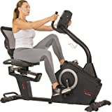 Sunny Health & Fitness Magnetic Recumbent Exercise Bike with Large Soft Comfort Seat with Mesh Back, 12 Preset or Custom…