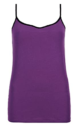 5ffd368f07 Ladies Marks   Spencer Stretchy Cotton Rich Strappy Camisole Vest Top M S  (16