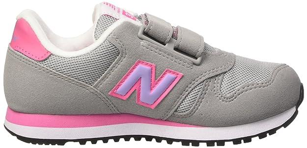 New Balance NBKV500BAP, Chaussures Premiers Pas pour Bébé (Garçon) - Gris - Grey/Pink, 35 EU