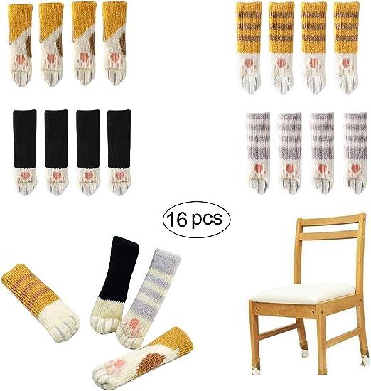 16 Piezas Calcetines Elásticos para Silla de Mesa, con Diseño de ...