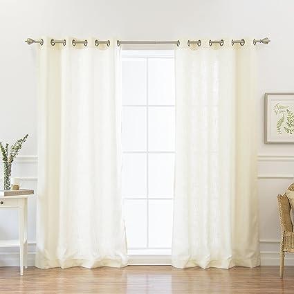 Best Home Fashion Natural Flax Faux Linen Curtains