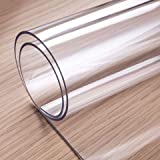 OstepDecor Custom 60 x 36 Inch Clear Table Cover Protector, 1.5mm Thick Table Protector for Dining Room Table Rectangle, Plas