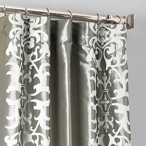 HPD Half Price Drapes EFSCH-18055-84 Designer Embroidered Curtain 1 Panel