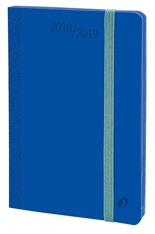 Quo Vadis 549007Q - Agenda escolar 2018-2019, horizontal, 16 meses, diseño Velvet, A6, 10 x 15 cm, color azul (Horizontal 15 Sd)