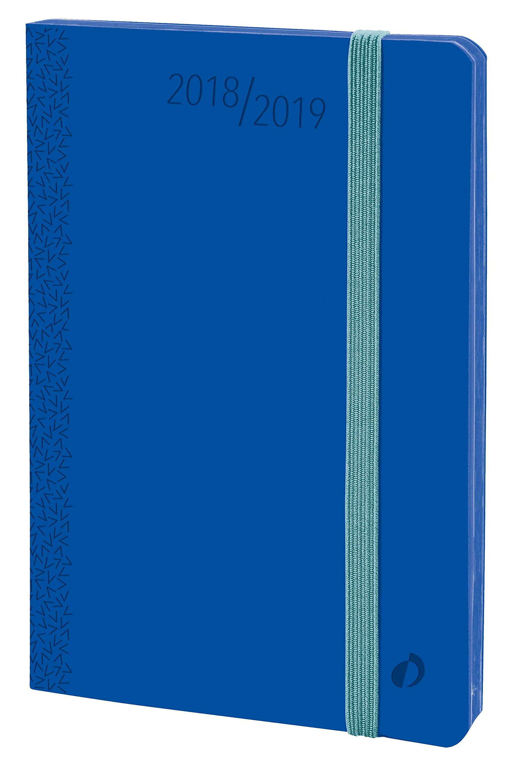Quo Vadis 549007Q Velvet Horizontal 15 SD September to December Academic Year Diary with Elastic 10 x 15 cm Year 2017-2018 Blue