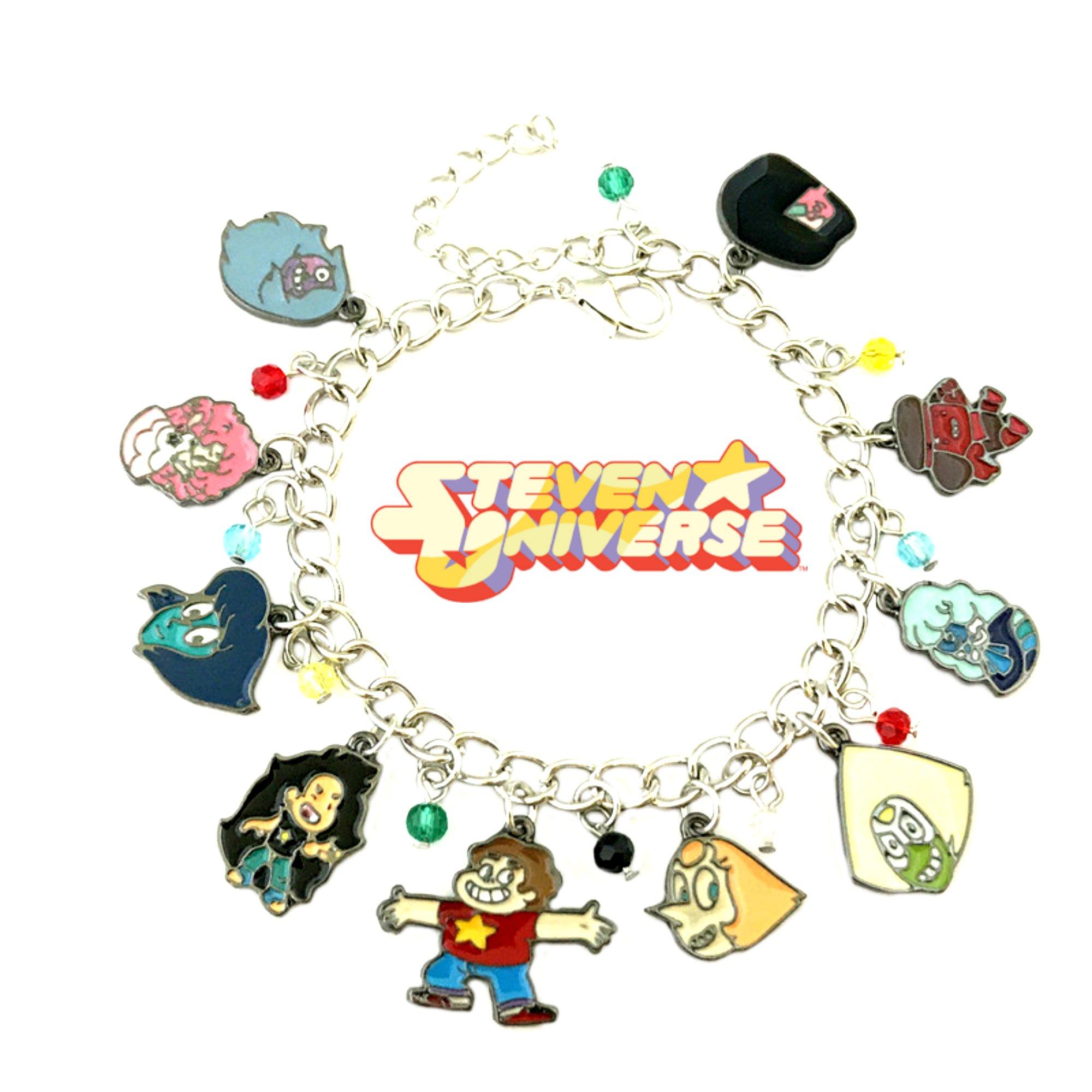 Superheroes Brand Stevens Universe Cartoon Charm Bracelet w/Gift Box Movies Premium Quality Cosplay Jewelry Series