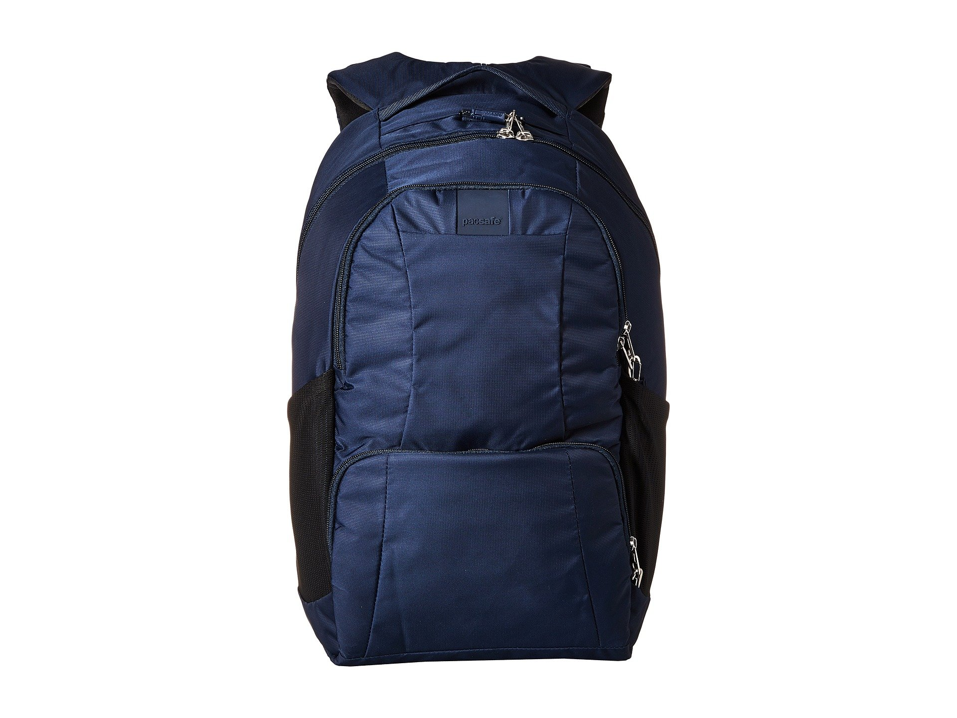 Pacsafe Metrosafe LS450 25 Liter Anti Theft Laptop Backpack - with Padded 15'' Laptop Sleeve, Adjustable Shoulder Straps, Patented Security Technology (Deep Navy)